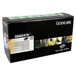08A0478 Toner Noir Lexmark 6k pour imprimante e320, e322