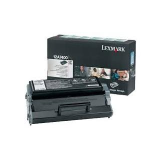12a7400 Toner Noir Lexmark 3k pour imprimante E321, 323