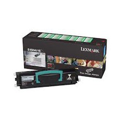 E450A11E Toner Lexmark Noir 6k pour imprimante Noir E360, E460