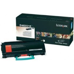 E460X31E Toner Noir Lexmark 15k pour imprimante E260, 360, 460, 462