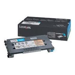 C500H2CG Toner Lexmark Cyan 3k pour imprimante C500
