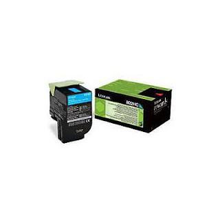 80C2HC0 Toner Cyan Lexmark 3k pour imprimante CX510