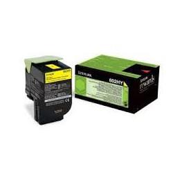 80C2HY0 Toner Jaune pour imprimante Lexmark CX 410, CX 510