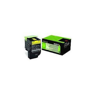 80C2XY0 Toner Jaune Lexmark 4k pour imprimante CX510