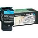 C540A1CG Toner Lexmark Cyan 1k pour imprimante C540, C543, C544, X543, X544