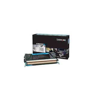 C734A1CG Toner Cyan Lexmark 6k pour imprimante C734, C736, X734, X736, X738