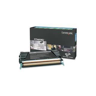 C734A1KG Toner Noir Lexmark 8k pour imprimante C734, C736, X734, X736, X738