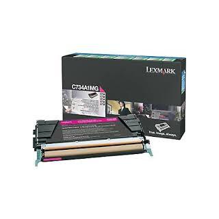 C734A1MG Toner Magenta Lexmark 6k pour imprimante C734, C736, X734, X736, X738