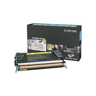 C736H1YG Toner Jaune 10k pour imprimante Lexmark C736DN, C736N, X736DTN, X736DE, X738DE