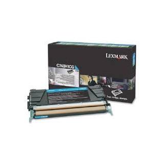 C748H1CG Toner Cyan Lexmark 10 k pour imprimante C748