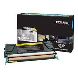 C748H1YG Toner Jaune pour imprimante Lexmark C748 de/dte/e