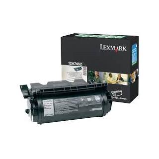 12a7462 Toner Noir Lexmark 21k pour imprimante T630, 632, 634