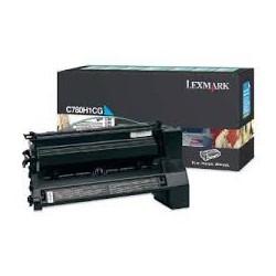 C780H1CG Toner Cyan Lexmark 10k pour imprimante C780, C782, X782E