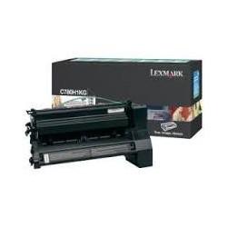 C780H1KG Toner Noir Lexmark 10k pour imprimante C780, C782, X782E