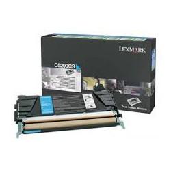 C5200CS Toner Cyan Lexmark 1,5k pour imprimante C530