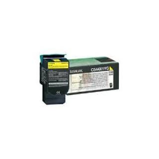 C544X1YG Toner Jaune pour imprimante Lexmark C544 C546 X544 X546