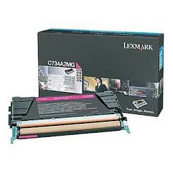 C734A2MG Toner Lexmark Magenta 6k pour imprimante C734, 736, x734, 736, 738