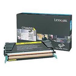 C734A2YG Toner Jaune 6k pour imprimante Lexmark C734, C736, X734, X736, X738