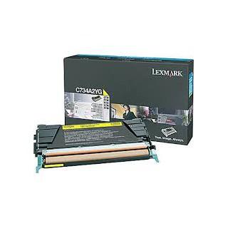 C734A2YG Toner Lexmark Jaune 6k pour imprimante C734, 736, x734, 736, 738