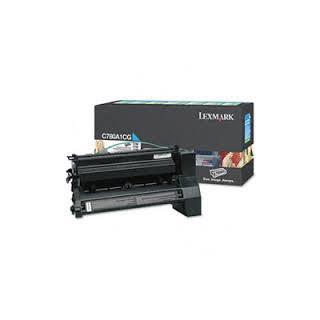 C780A1CG Toner Lexmark Cyan 6k pour imprimante C780