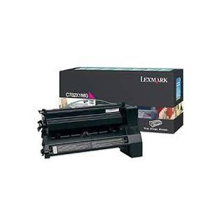 C782X1MG Toner Lexmark Magenta pour imprimante C782