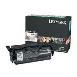 X651A11E Toner Lexmark Noir 7k pour imprimante X656de, X651de, X652de, X654de, X656dte
