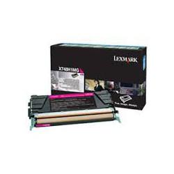 X748H1MG Toner Magenta Lexmark 10k pour imprimante X748
