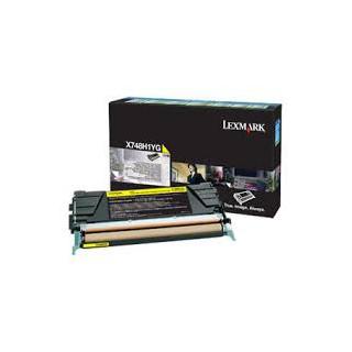 X748H1YG Toner Jaune Lexmark 10k pour imprimante X748