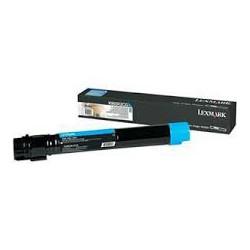 X950X2CG Toner Lexmark Cyan 24k pour imprimante X950, X952, X954