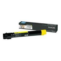 X950X2YG Toner Lexmark Jaune 24k pour imprimante X950, X952, X954