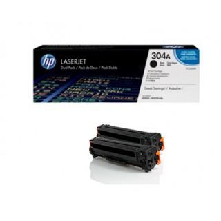 CC530AD Lot de 2 Toner Noir imprimante HP Laserjet CM2320/2720, CP2020/2025