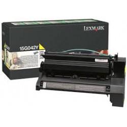 15G042Y Toner Jaune Lexmark pour imprimante C752