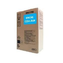 Encre Riso (S-4388E) Bleu 2 x 1000ml pour V8000, RP37XX, RP31XX, RP35XX, RN2-Series, GR3770, GR3750, GR-Serie A4, FR-Serie A3