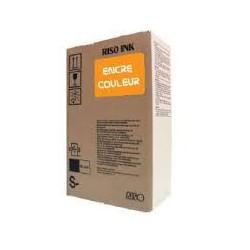 Encre Riso (S-4405E) Orange 2 x 1000ml pour V8000, RP37XX, RP31XX, RP35XX, RN2-Series, GR3770, GR3750, GR-Serie A4, FR-Serie A3