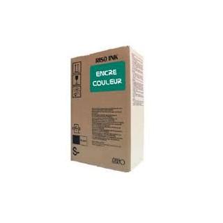 Encre Riso (S-4398E) Vert canard 2 x 1000ml pour V8000, RP37XX, RP31XX, RP35XX, RN2-Series, GR3770, GR3750, GR-Serie A4