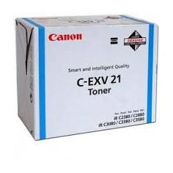 Canon Toner C-EXV 21 Cyan 14 000 pages réf. 0453B002 260g pour imprimante iR C3380. C3380i. C2880. C2380i. C3080. C3580