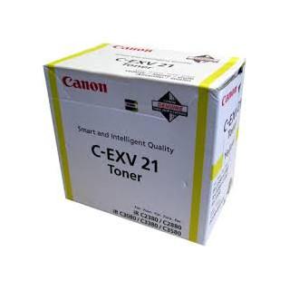 Canon Toner C-EXV 21 Jaune 14 000 pages réf. 0455B002 260g pour imprimante iR C3380. C3380i. C2880. C2380i. C3080. C3580