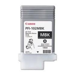 Encre Canon PFI-102 Noir mat réf. 0894B001 130ml pour traceur iPF500, 510, 600, 610, 655, 700, 710, 750, 755, LP17, 24