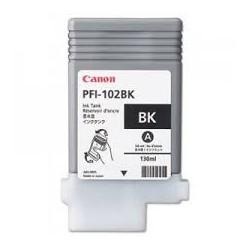 Encre Canon PFI-102 Noir 0895B001 130ml pour traceur iPF500, LP17, iPF600, iPF605, iPF610, LP24, iPF650, iPF655, iPF700