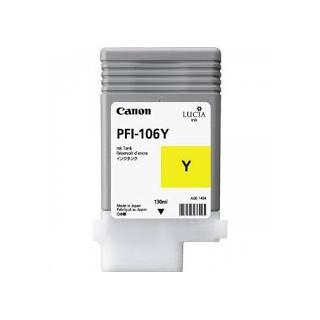 Encre Canon PFI-106 Jaune réf. 6624B001 130ml pour traceur iPF6300, 6350, 6400, 6450