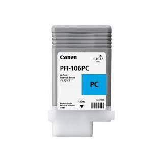 Encre Canon PFI-106 Photo Cyan réf. 6625B001 130ml pour traceur iPF6300, 6350, 6400, 6450