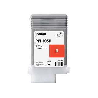 Encre Canon PFI-106 Rouge réf. 6627B001 130ml pour traceur iPF6300, 6350, 6400, 6450