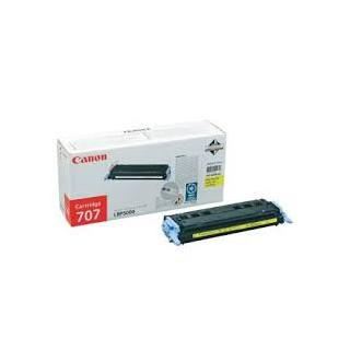 Toner Canon 707 Jaune réf. 9421A004 pour imprimante LBP 5000