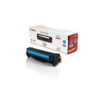 Toner Canon 718 Cyan 2 900 pages réf. 2661B002 pour imprimante LBP 7200. 7660Cdn. 7680Cx