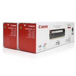 Toner Canon 718 Noir réf. 2662B017 2 x 3 400 pages pour imprimante LBP 7200. 7660 7680