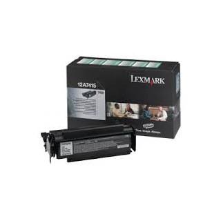 12A7415 Toner Noir 10k pour imprimante Lexmark Optra T 420d/dn/n