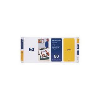 C4823A Tête d'impression 80 Jaune + nettoyeur imprimante HP Designjet 1000 Séries