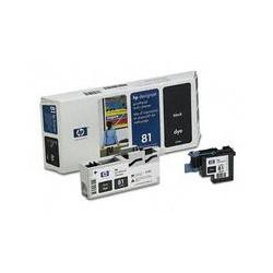 C4950A Tête d'impression imprimante HP n° 81 Noir et Kit de nettoyage imprimante HP Designjet 5000 5500