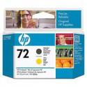 C9384A Tête d'impression Noir + Jaune (HP n° 72) traceur HP Designjet T1100 T1120 T1200