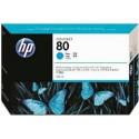 HP Ink C4846A No.80 Cyan 350ml pour traceur Designjet 1050C, 1055CM